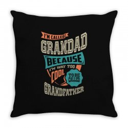 If Grandad Can't Fix It Throw Pillow | Artistshot