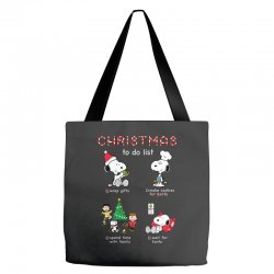 christmas to do list snoopy Tote Bags | Artistshot