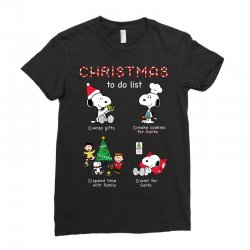 christmas to do list snoopy Ladies Fitted T-Shirt | Artistshot