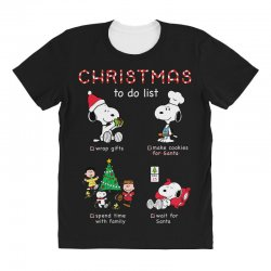 christmas to do list snoopy All Over Women's T-shirt | Artistshot
