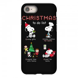 christmas to do list snoopy iPhone 8 Case | Artistshot