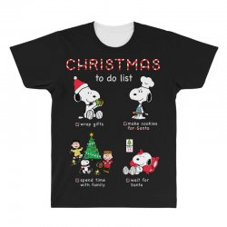 christmas to do list snoopy All Over Men's T-shirt | Artistshot