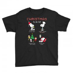 christmas to do list snoopy Youth Tee | Artistshot