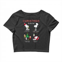 christmas to do list snoopy Crop Top | Artistshot