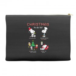 christmas to do list snoopy Accessory Pouches | Artistshot