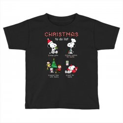 christmas to do list snoopy Toddler T-shirt | Artistshot