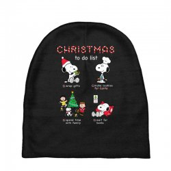 christmas to do list snoopy Baby Beanies | Artistshot
