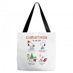 christmas to do list snoopy Tote Bags   Artistshot