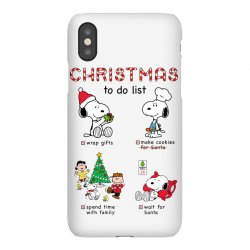 christmas to do list snoopy iPhoneX | Artistshot