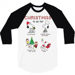 christmas to do list snoopy 3/4 Sleeve Shirt | Artistshot
