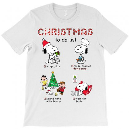 Christmas To Do List Snoopy T-shirt Designed By Akin