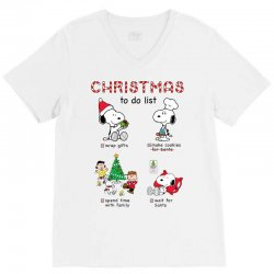 christmas to do list snoopy V-Neck Tee | Artistshot