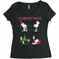 christmas to do list snoopy Women's Triblend Scoop T-shirt   Artistshot