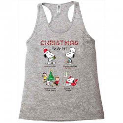 christmas to do list snoopy Racerback Tank | Artistshot