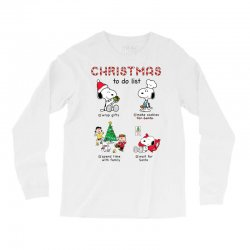 christmas to do list snoopy Long Sleeve Shirts | Artistshot