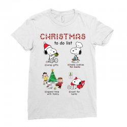 christmas to do list snoopy Ladies Fitted T-Shirt   Artistshot