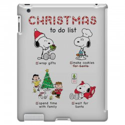 christmas to do list snoopy iPad 3 and 4 Case   Artistshot