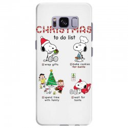 christmas to do list snoopy Samsung Galaxy S8 Plus | Artistshot