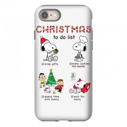 christmas to do list snoopy iPhone 8 | Artistshot