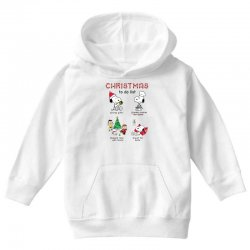 christmas to do list snoopy Youth Hoodie | Artistshot