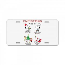 christmas to do list snoopy License Plate | Artistshot