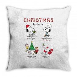christmas to do list snoopy Throw Pillow | Artistshot