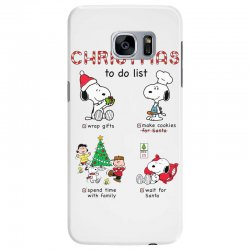 christmas to do list snoopy Samsung Galaxy S7 Edge | Artistshot