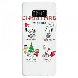 christmas to do list snoopy Samsung Galaxy S8 | Artistshot