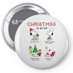 christmas to do list snoopy Pin-back button   Artistshot