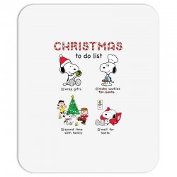 christmas to do list snoopy Mousepad | Artistshot