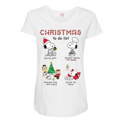 christmas to do list snoopy Maternity Scoop Neck T-shirt   Artistshot