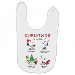 christmas to do list snoopy Baby Bibs | Artistshot