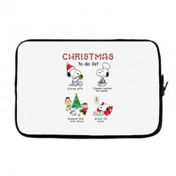 christmas to do list snoopy Laptop sleeve | Artistshot