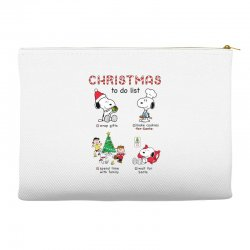 christmas to do list snoopy Accessory Pouches   Artistshot