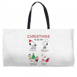 christmas to do list snoopy Weekender Totes | Artistshot