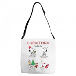 christmas to do list snoopy Adjustable Strap Totes | Artistshot
