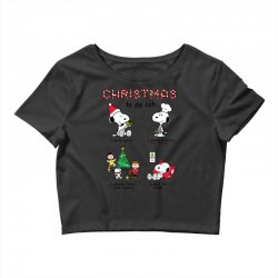 christmas to do list snoopy Crop Top   Artistshot