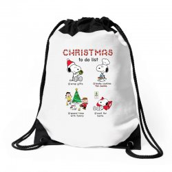 christmas to do list snoopy Drawstring Bags | Artistshot