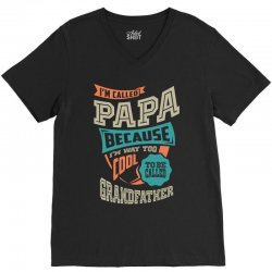 If Papa Can't Fix It V-Neck Tee | Artistshot