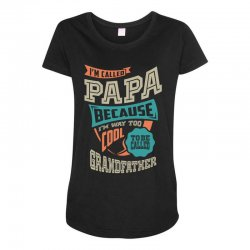 If Papa Can't Fix It Maternity Scoop Neck T-shirt | Artistshot