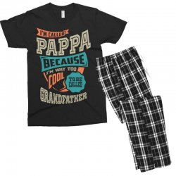 If Pappa Can't Fix It Men's T-shirt Pajama Set | Artistshot