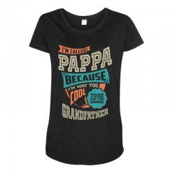 If Pappa Can't Fix It Maternity Scoop Neck T-shirt | Artistshot