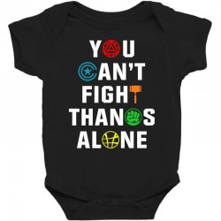 you can't fight thanos alone Baby Bodysuit | Artistshot