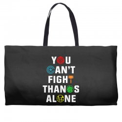 you can't fight thanos alone Weekender Totes | Artistshot