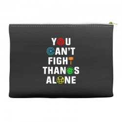 you can't fight thanos alone Accessory Pouches | Artistshot