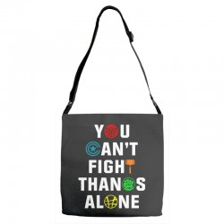 you can't fight thanos alone Adjustable Strap Totes | Artistshot