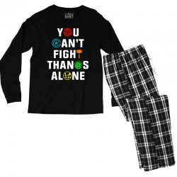 you can't fight thanos alone Men's Long Sleeve Pajama Set | Artistshot