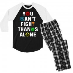 you can't fight thanos alone Men's 3/4 Sleeve Pajama Set | Artistshot