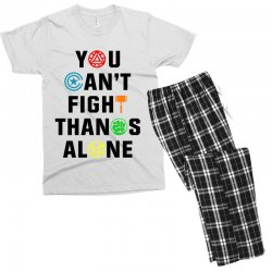 you can't fight thanos alone black Men's T-shirt Pajama Set | Artistshot