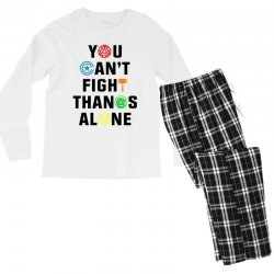 you can't fight thanos alone black Men's Long Sleeve Pajama Set | Artistshot